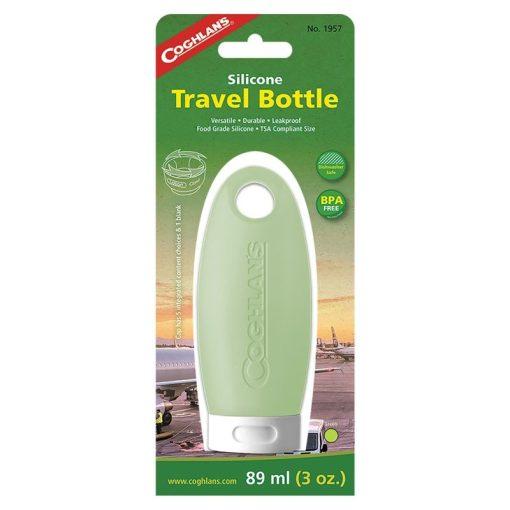 Coghlans Silicone Travel Bottle Green