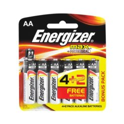 Energizer Max Batteries AA 4+2