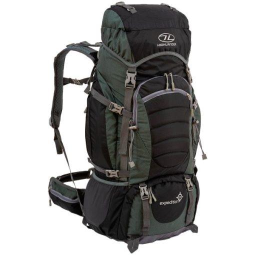 Highlander Expedition 56L Black Backpack