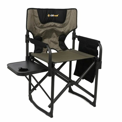 Oztrail RV Quickfold Chair with Side Table