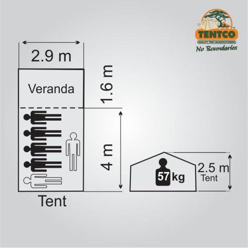 Tentco Senior Sahara Tent Plan